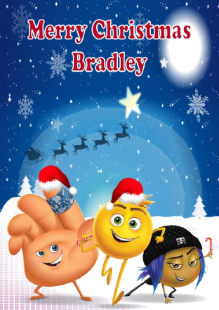 Personalised Emoji Movie Christmas Card